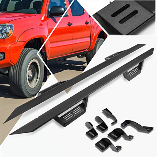 3 Inches Side Step Nerf Bar Running Board w/Down Step Pad Compatible with Tacoma Crew/Double Cab 05-17