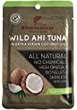 Itsumo Wild Ahi Tuna Fish in Extra Virgin Coconut Oil (10 Packs) - Premium Yellowfin Tuna Fish - Healthy Natural Ingredients - Paleo & Gluten Free Protein Packets