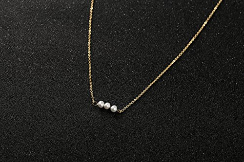 Befettly-Mini-Imitation-Pearls-Bar-Star-Shell-Turquoise-Pendant-Delicate-Necklace-Handmade-14k-Gold-Fill-Choker-Necklace