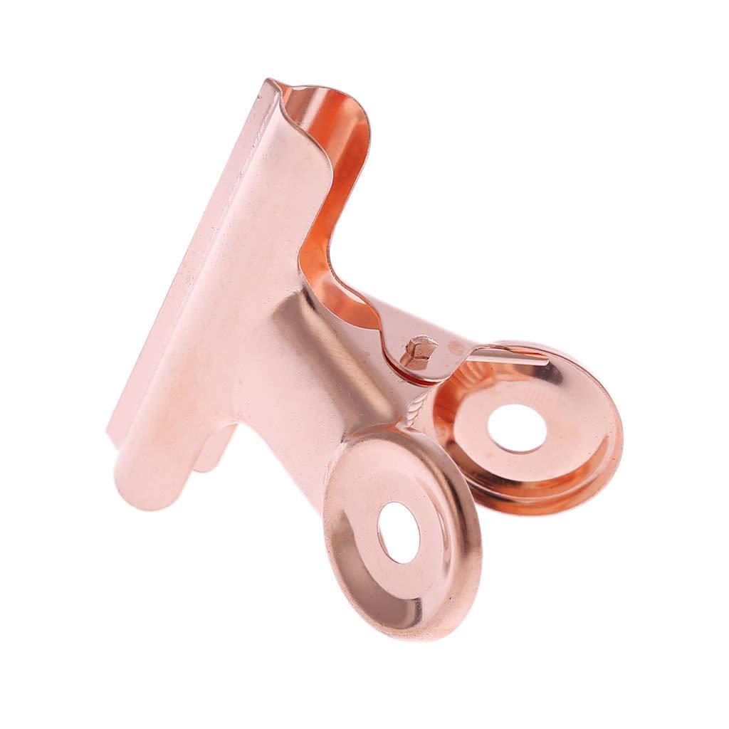 fermacarte a forma di bulldog con clip per raccoglitori forniture per ufficio 22 cancelleria Ruwuin in acciaio inox