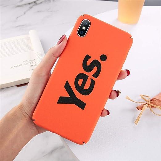 HASGK Estuches para teléfono Estuche con Letras Simples Estuches para teléfono Mate Color Caramelo PC Dura Carcasa Trasera Completa Estuches para teléfono-A01_para iPhone 8: Amazon.es: Electrónica