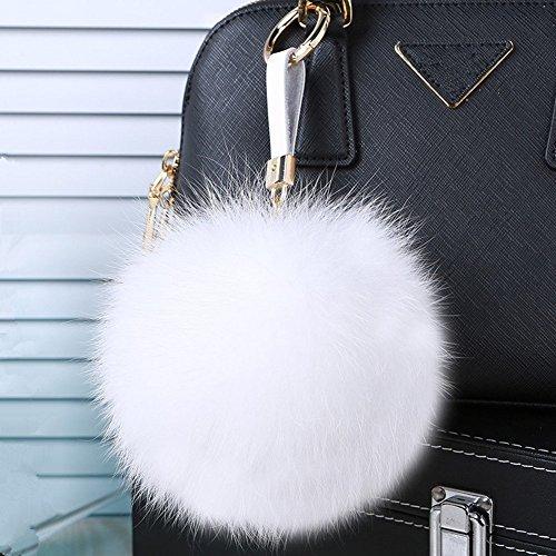 Roniky Large Genuine Keychain Fluffy