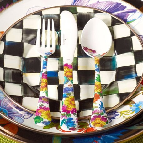 Mackenzie-Childs Brand New Flower Market 12-Pieces Set Place Setting Collection