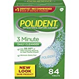 Best Denture Cleaners - Polident 3-Minute Anti-Bacterial Denture Cleanser Tablets, Triple Mint Review