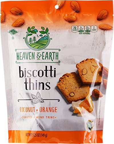 - Heaven & Earth Coconut Orange Biscotti Thins (1 Pack)