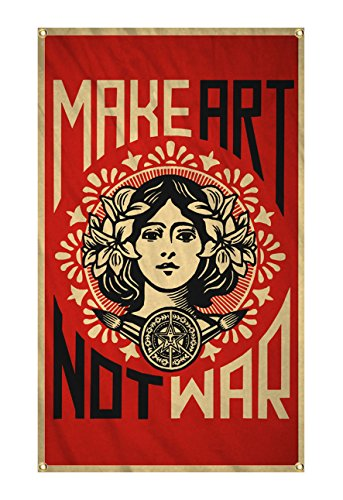 Make Art Not War Anti-War Peace Outdoor Garden Flag Tapestry Poster Gifts 3x5 Ft