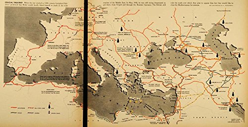 1942-print-europe-map-railroad-oil-pipe-canal-naval-base-france-black-sea-libya-original-color-print