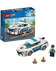 LEGO 60239 City Politiepatrouille auto met Politieagent Minifiguur, Politie Speelgoed voor Kinderen van 5 jaar, Cadeau Idee