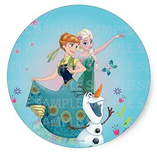 (Frozen Summer Elsa Anna Sisters Olaf Disney Birthday Edible Image Photo 8