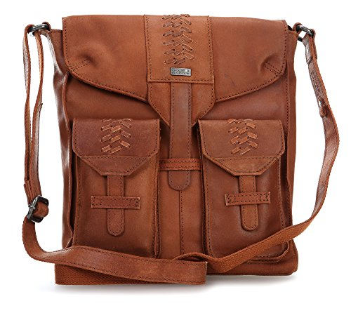 Spikes & Sparrow Flash Bolso bandolera piel 28 cm brown_brown, braun