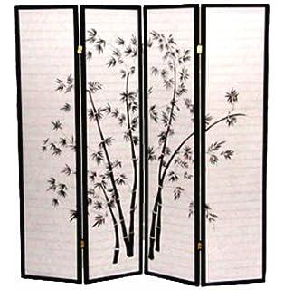 beautiful idea shoji room divider. Shoji Screen  Room Divider Print Bamboo 4 Panel Black Amazon com Legacy Decor Oriental