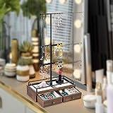 Keebofly Jewelry Organizer Metal & Wood Basic