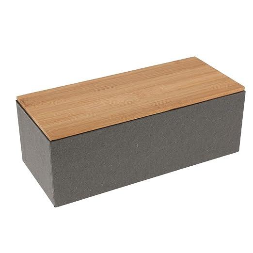 Fenteer Caja De Té STO con Contenedores De Tapa De Bambú Pan Cajas De Azúcar Contenedores De Comida Tarro - D: Amazon.es: Hogar