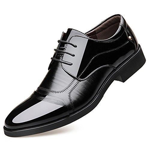 Hommes Black Les pour Chaussures pour Chaussures A de D'Affaires en de Mariage Souligné Cuir Chaussures en OEMPD Hommes Chaussures Dentelle WqXZT0wHn