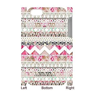 Aztec Tribal Pattern Unique Design 3D Cover Case for Iphone 4,4S,custom cover case ygtg538104