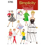 Simplicity Sewing Pattern 5785 Doll Clothes, One Size
