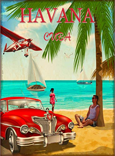 (A SLICE IN TIME Havana Cuba Habana Cuban Caribbean Island Retro Travel Home Collectible Wall Decor Advertisement Art Poster Print. 10 x 13.5 inches )