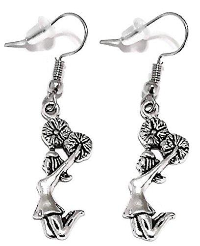 Kit's Kiss Cheer Earrings, Girls Earrings, Cheer Jewelry, Cheerleading Earrings, Cheerleader Earrings