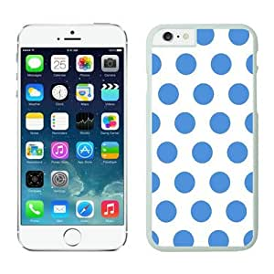 Iphone 6 Cases;cute Iphone 6 Case,polka Dot White and Blue Iphone 6 Plus Cases White