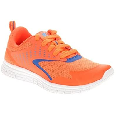 Starter Boys Lightweight Running Shoes Sneakers Breathable Mesh Orange Size  4