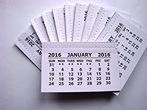 50 x Tear off calendar tabs for make your own craft projects for ...