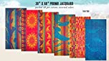 Kaufman Sales Terry Beach Towel - 4 Pc Pack Assorted Colors