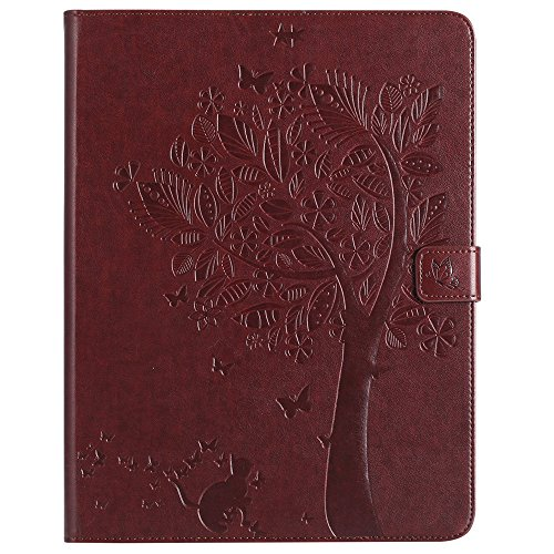 iPad 2 3 4 Case,Embossed Magnetic Flip PU Leather Smart Wall