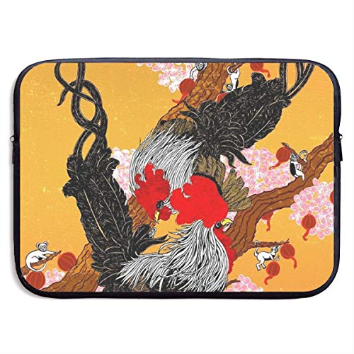 Year of The Fire Rooster Tree Monkey Laptop Sleeve Bag Compatible Notebook Computer Protective Cover for 15 Inch Computer ()
