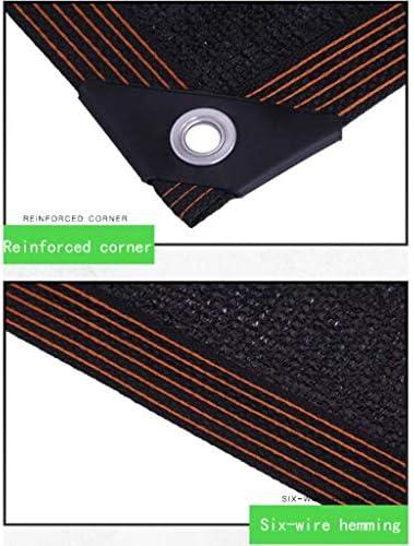 遮光布遮光ネット、20ピン断熱保湿黒色遮光布、遮光率98%、温室用、中庭、カーシェード植物カバー(サイズ:2x6m)