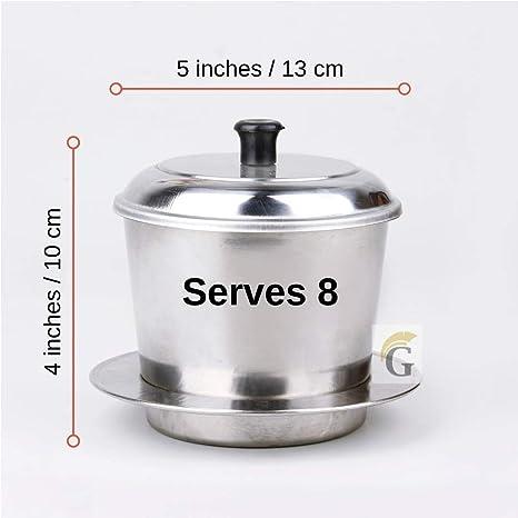 Amazon.com: Cafetera vietnamita grande de tamaño grande ...