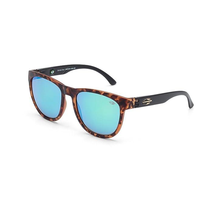 Gafas de sol Santa Cruz, Mormaii marrón y negro con lentes azul espejo   Amazon.es  Ropa y accesorios 8d1a203e04