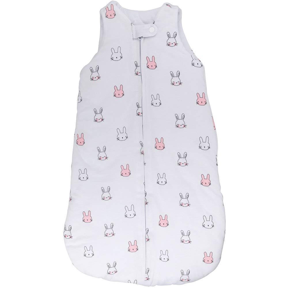 100% Cotton Wearable Blanket Baby Sleep Bag Pink Bunnies 2 Pack (6-12 Months) 519iw5H3sfL