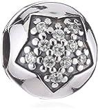 Pandora Damen-Charm 925 Sterling Silber Zirkonia weiß 791056CZ