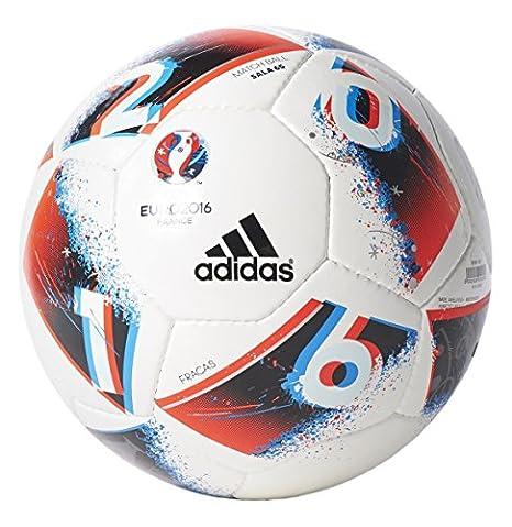 adidas Euro 2016 Fracas Sala 65 balón de fútbol, White/Bright Blue ...