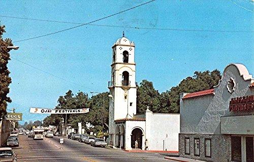 Ojai California Post Office Tower Street View Vintage Postcard K68659 (Office Post Tower)