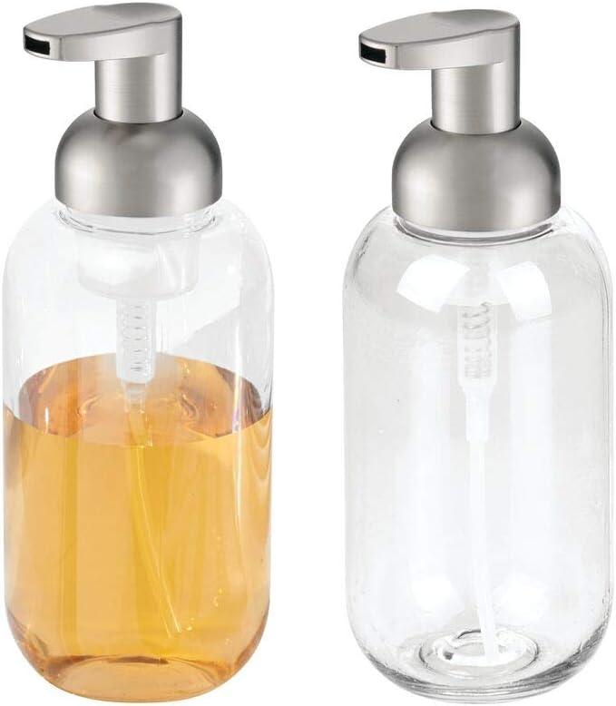 mDesign Modern Refillable Foaming Soap Max 63% OFF Bottle Pump for Dispenser New item