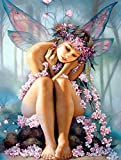 Crow's Soul 5D DIY diamond paintings diamond cross -embroidered diamond Butterflie girl angel dreams pink wing