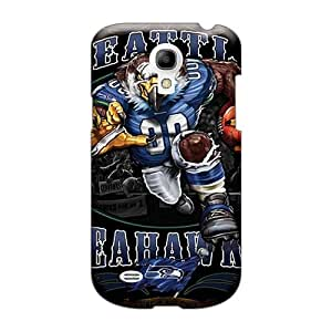 Protective Cell-phone Hard Cover For Samsung Galaxy S4 Mini (rDh2396NJPF) Unique Design Lifelike Seattle Seahawks Skin