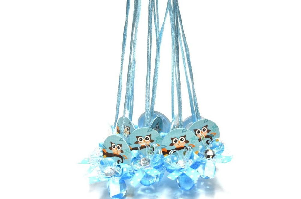 ICE WASHINGTON home series Baby Shower Pacifier Necklaces Owl Baby Shower Game (24 pieces)