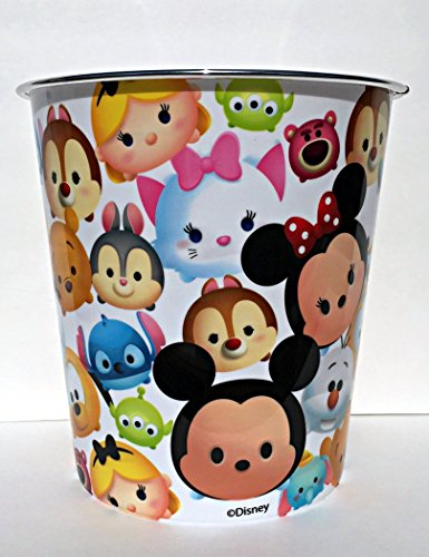 Disney Tsum Tsum Kids Wastebasket Trash Can for Kids Bedroom or Bathroom