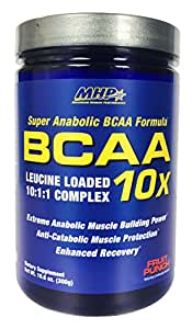 MHP BCAA 10x Leucine Loaded 10:1:1 Complex, Fruit Punch, 10.6 Ounce
