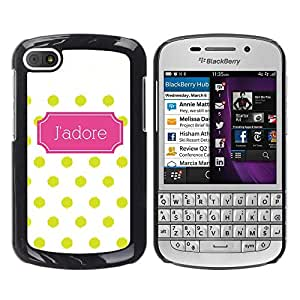 For BlackBerry Q10 , S-type® Polka Dot Art Deco Pattern Poster - Arte & diseño plástico duro Fundas Cover Cubre Hard Case Cover
