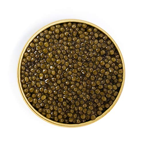 Beluga Kaluga Caviar Party Box Includes Blinis and Mother of Pearl Spoon 3.5oz