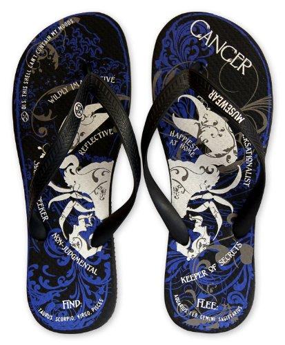 Unisex Cancer Zodiac Flip Flops