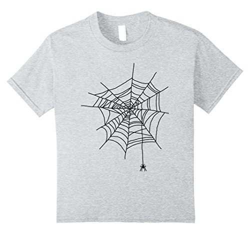 Childrens Spider Costume Ideas (Kids Spider Web Halloween Funny Gift Idea Cobweb Costume T Shirt 8 Heather Grey)