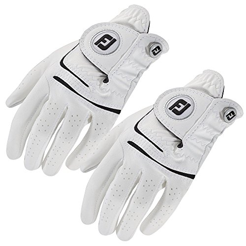 FootJoy Lady WeatherSof White Golf Gloves 2 Pack To Fit Left Hand White Large 67497