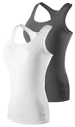 a6339c079a6b6 Leisimi Women Performance Athletic Running Tank Tops Racer-Back Vest Yoga Base  Layer Shirt (
