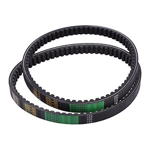 (Go Kart Drive Belt 2 x Drive Belt Clutch Belt Replaces for Hammerhead 80T and TrailMaster Mid XRX Go-Karts 9.100.018-725)