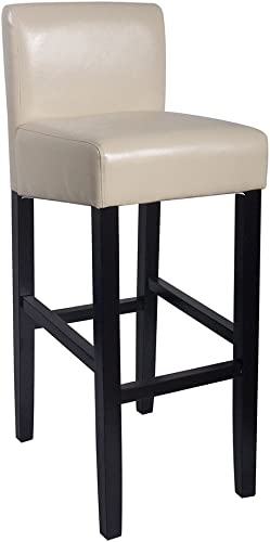 Modern Home Brooklyn Contemporary Wood/Faux Leather Barstool