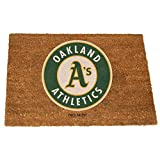 The Memory Company MLB Oakland Athletics Colored Logo Door Mat, One Size, Multicolor
